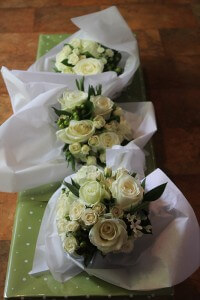 Bridesmaids' bouquets ready for delivery